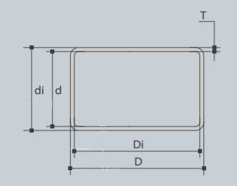 Dimensions of 316 Stainless Steel Rectangular Tube